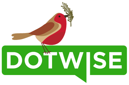 Dotwise logo with robin